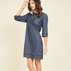 Trollied Dolly Denim Tunic Dress